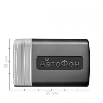 Размер GPS ГЛОНАСС маяка АвтоФон АЛЬФА (59х38х20 мм.)